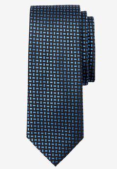 Extra Long Geometric Tie, ROYAL BLUE GEO