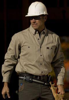 Long-Sleeve Cotton Work Shirt by Wrangler®,