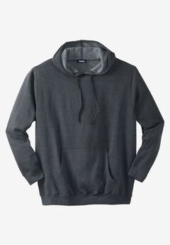 Fleece Pullover Hoodie, HEATHER CHARCOAL, hi-res