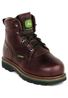 John Deere 6' Steel Toe Lace Boot, DARK BROWN, hi-res