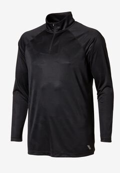 ForceCool ¼-Zip Track Jacket by KS Sport™, BLACK, hi-res