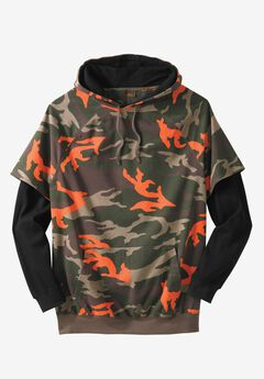 Thermal Lined Hangdown Hoodie by Boulder Creek®, FOREST CAMO