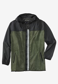 Force Cool Windbreaker by KS Sport™, OLIVE COLORBLOCK