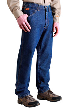 Flame Resistant Relaxed Fit Jeans by Wrangler®, ANTIQUE INDIGO, hi-res