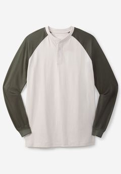 Long Sleeve Raglan Henley by Liberty Blues®,