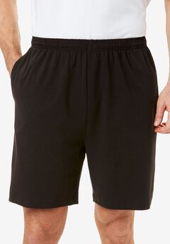 Lightweight Basic Shorts, BLACK, hi-res