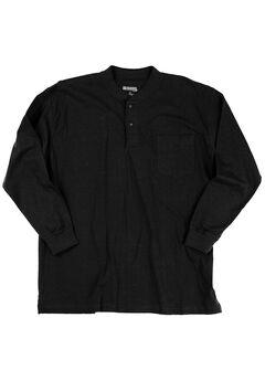 Long-Sleeve Henley Shirt by Wrangler®, BLACK, hi-res