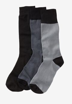 Contrast Dress Socks 3-Pack,