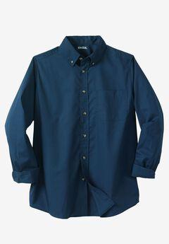 Shrink-Less™ Long-Sleeve Sport Shirt, NAVY