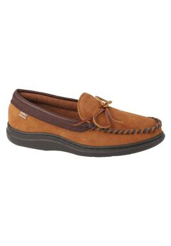 L.B. Evans Atlin Terry Lined Moccasin Slippers,