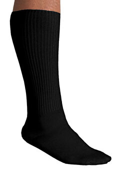 Diabetic Over-The-Calf Socks, BLACK
