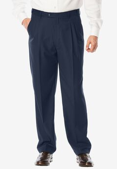 Performance Expandable Waist Plain-Front Pant,