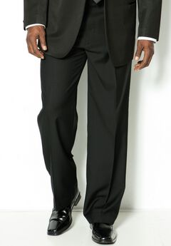 Plain Front Tuxedo Pants by KS Signature,