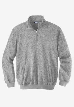 ¼ Zip Sweater Fleece , GUNMETAL MARL, hi-res