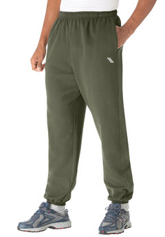 Wicking Fleece Elastic Cuff Pants by KS Sport™, OLIVE, hi-res