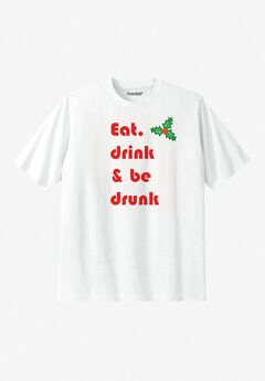 KingSize Graphic in White, MERRY DRINK