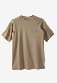 Resistance Collection Short Sleeve Performance Tee by Boulder Creek®, DARK KHAKI, hi-res