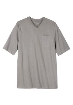 Comfort Cool V-neck Tee by KS Sport™, STEEL