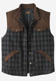 Plaid Multi-Pocket Vest by Boulder Creek®,