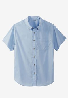 Shrink-Less™ Short Sleeve Sport Shirt, BLUE HARBOR, hi-res