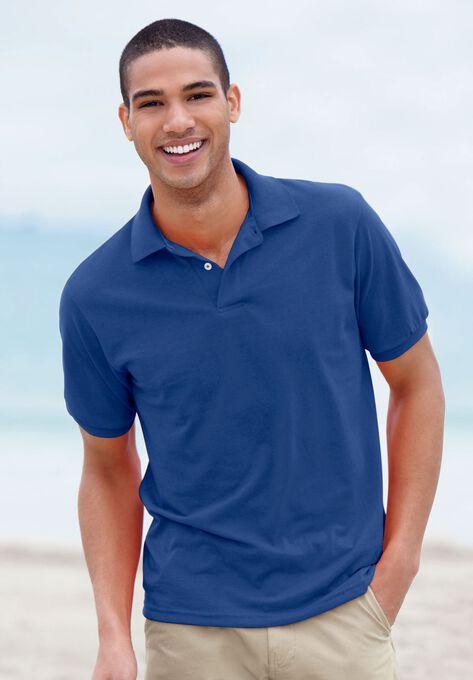 Hanes Comfortblend Ecosmart Jersey Polo Shirt Plus Size Polos