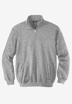 ¼ Zip Sweater Fleece , GUNMETAL MARL, hi-res