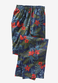 Flannel Pajama Pants by KS Island™, NAVY FLORAL