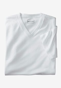 6-Pack Cotton V-Neck Tee  , WHITE, hi-res