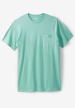 Lightweight Longer-Length Crewneck Pocket T-Shirt,