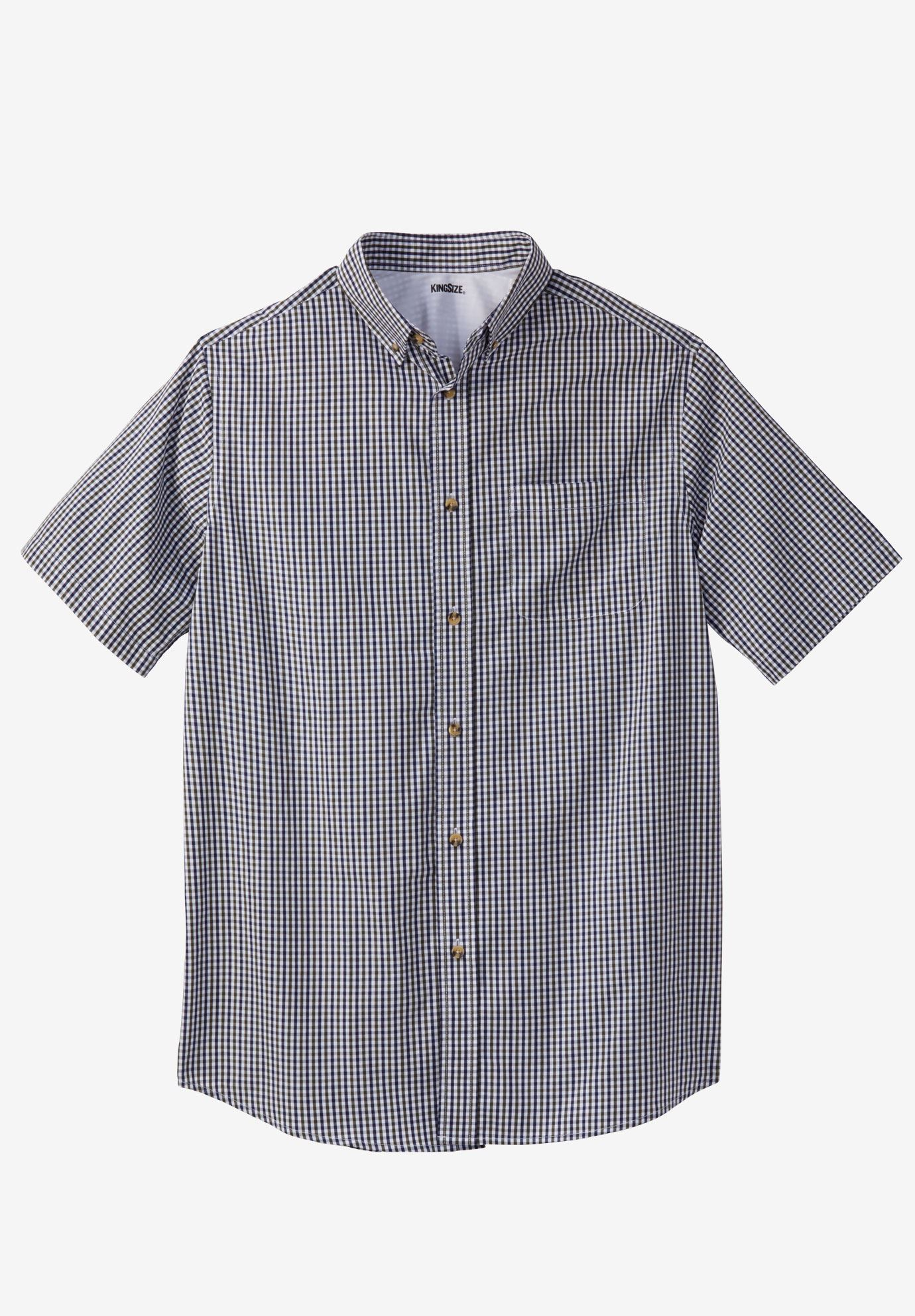 Shrink-Less™ Short-Sleeve Sport Shirt,