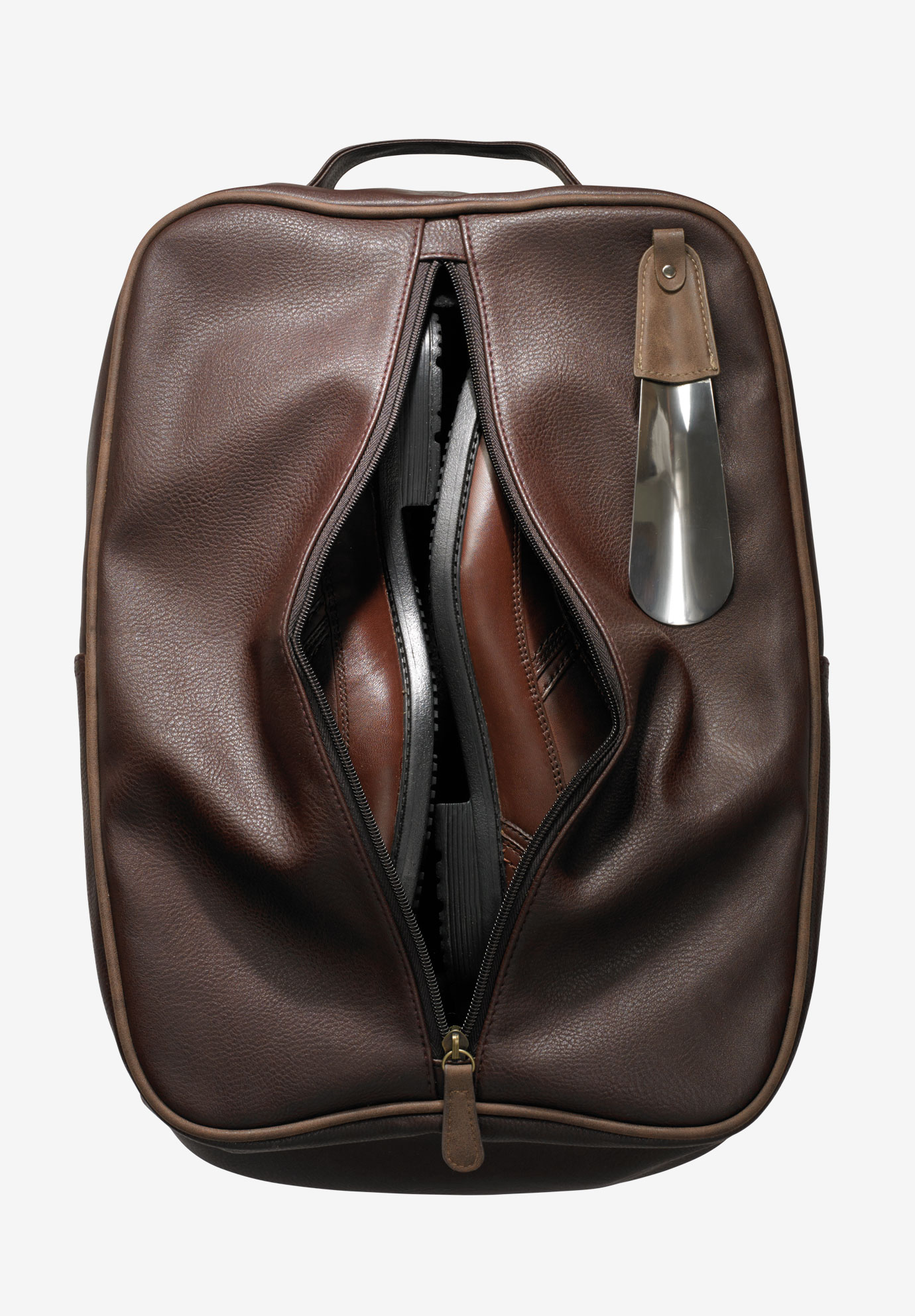 Shoe Bag and Shoehorn, BROWN
