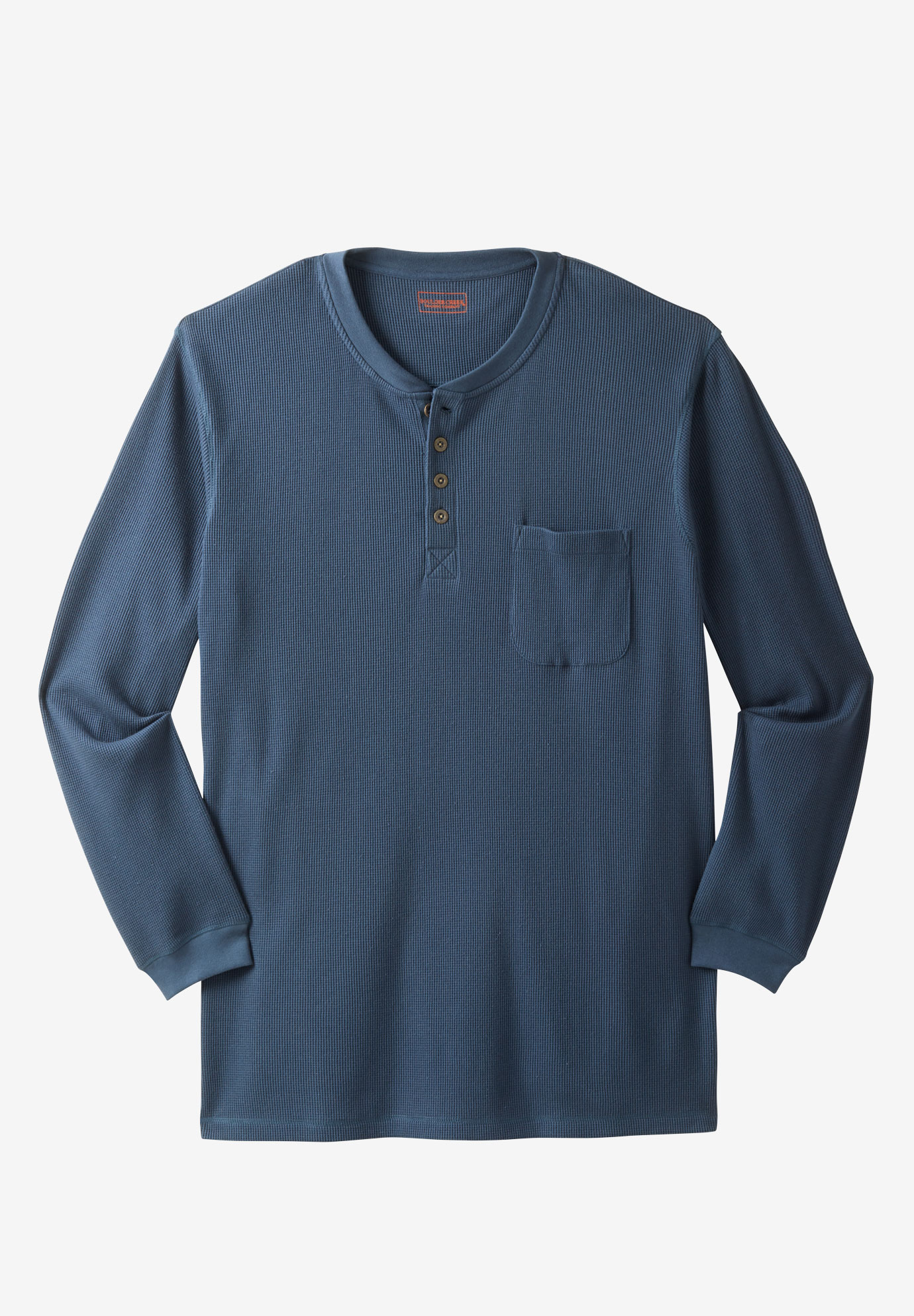 Thermal Longer-Length Pocket Henley by Boulder Creek®,