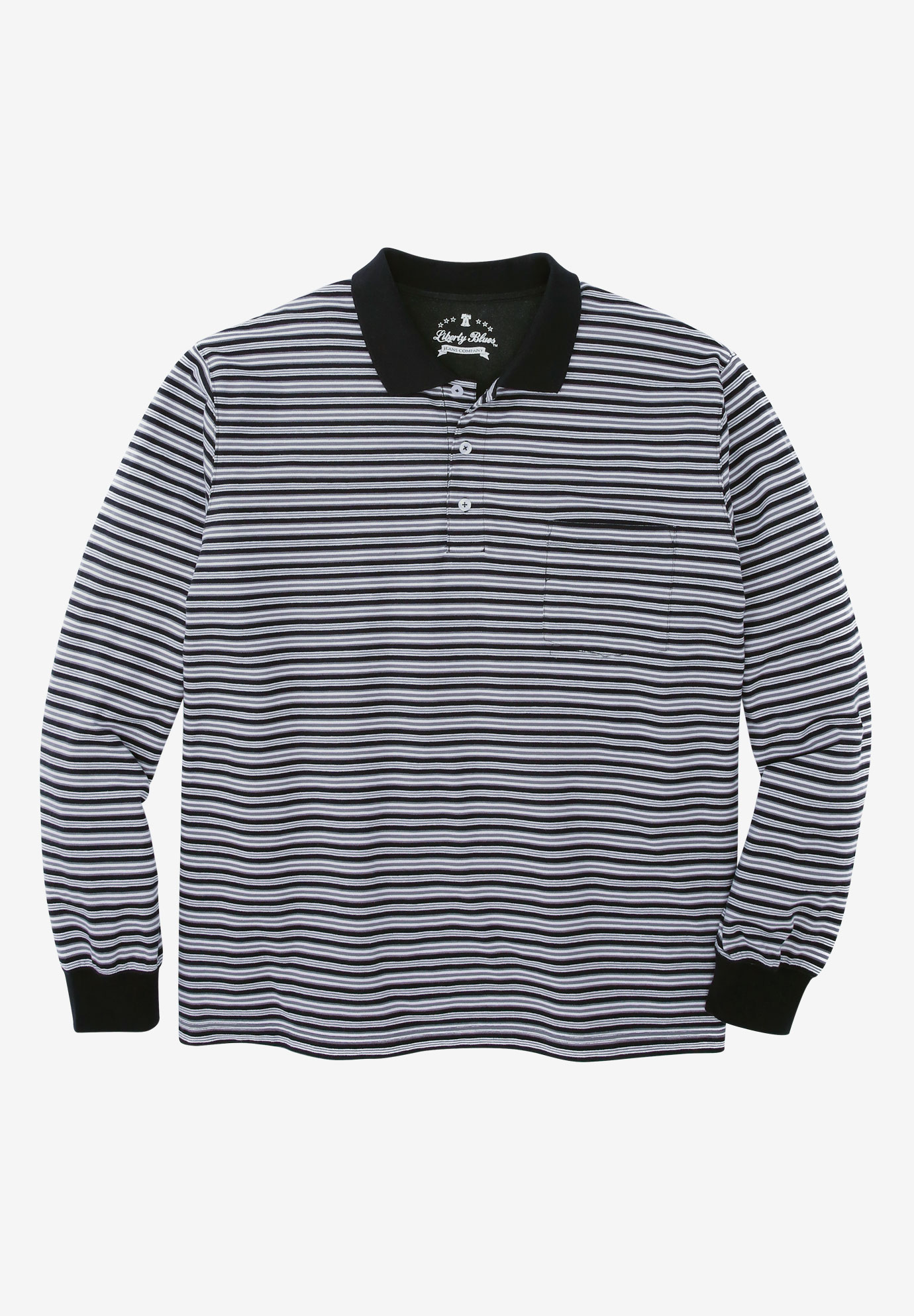 Long Sleeve Polo by Liberty Blues®,