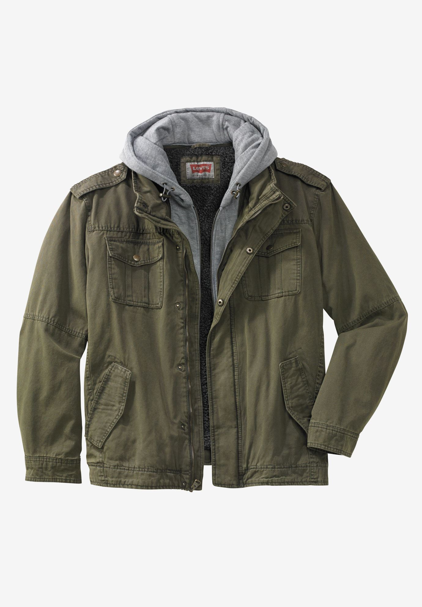 Hooded Military Trucker Jacket By Levi S 174 Plus Size