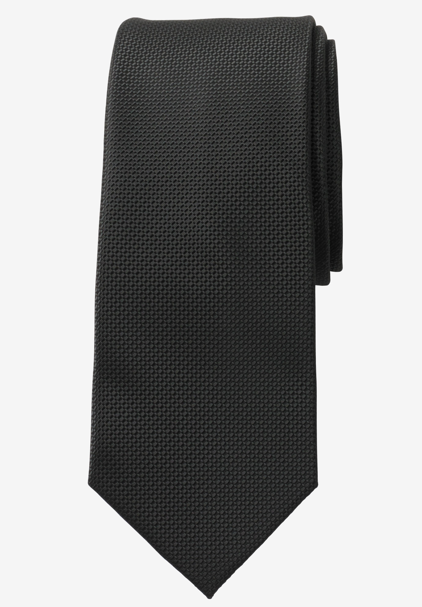 Extra Long Solid Tie by KS Signature, BLACK