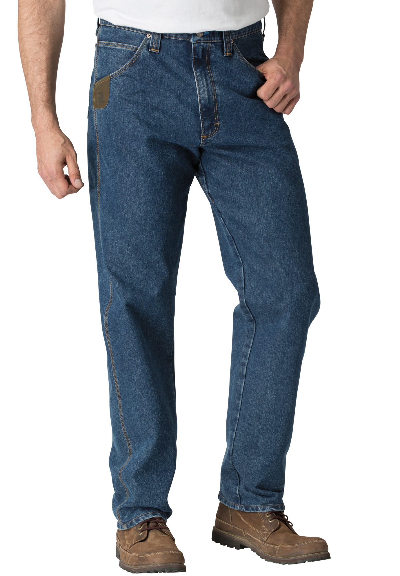Cool Vantage™ Relaxed Jean by Wrangler®, DARK STONE, hi-res