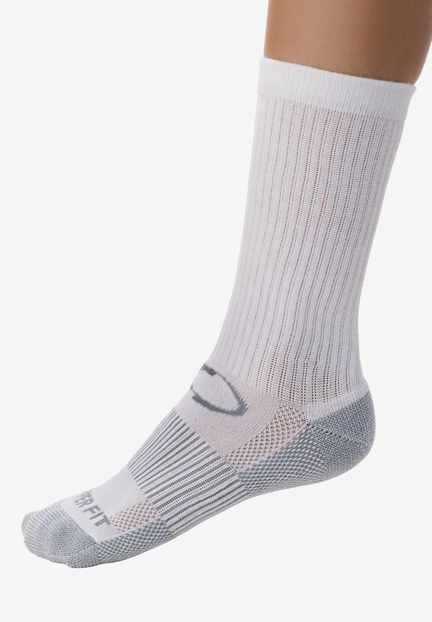 Sport Crew Sock 2 Pack by Copper Fit™, WHITE