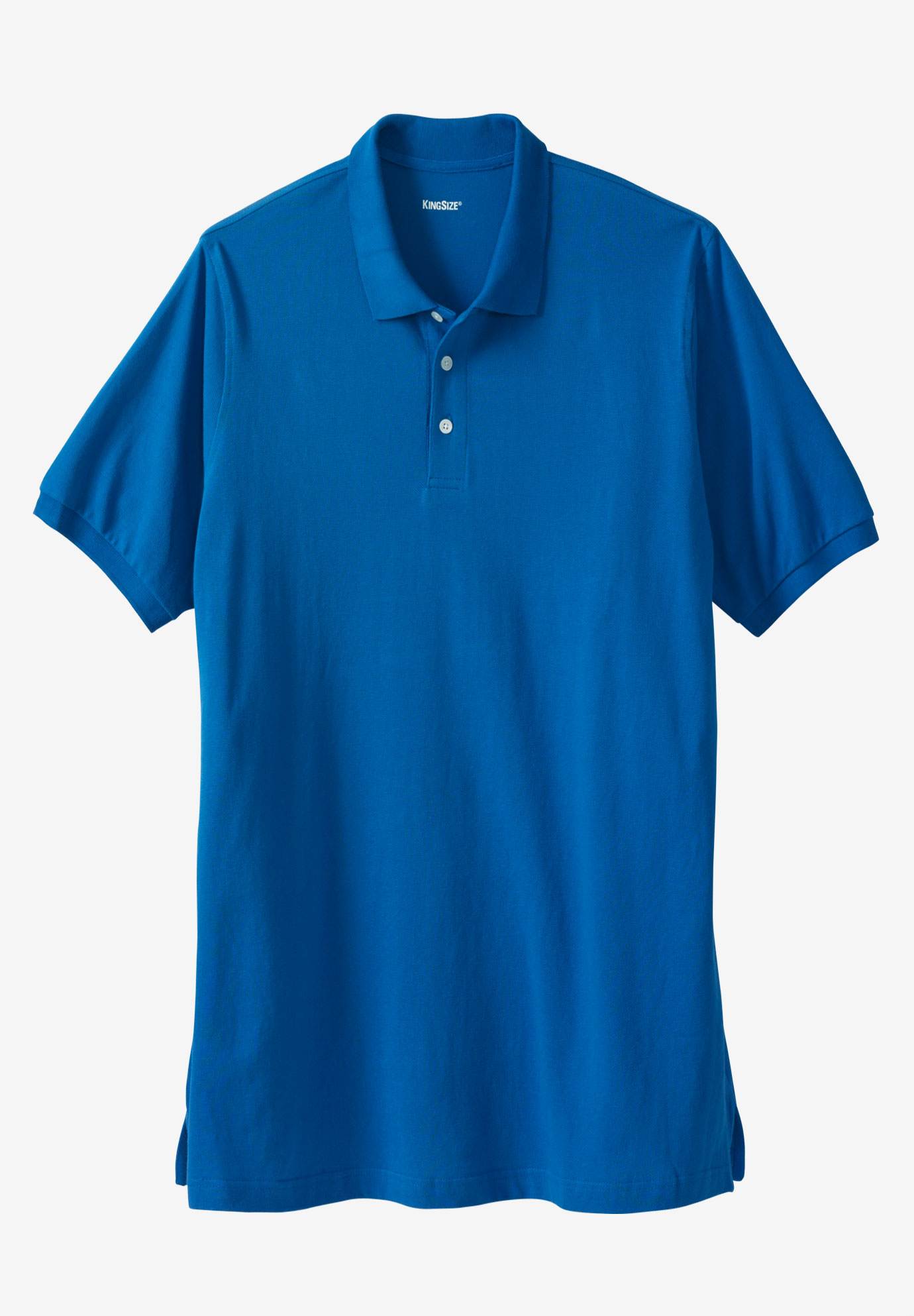 Longer-Length Short-Sleeve Piqué Polo ,