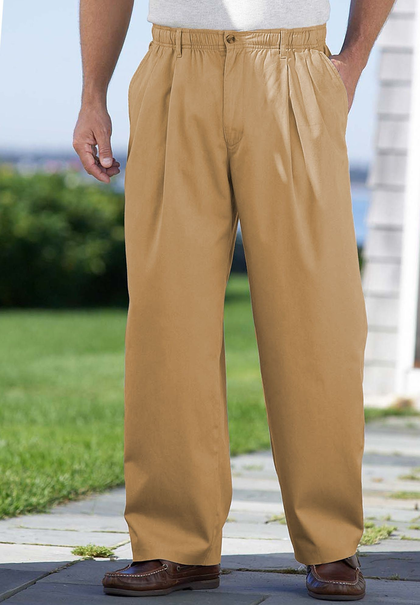 Knockarounds® Pleated Pants in Twill or Denim,
