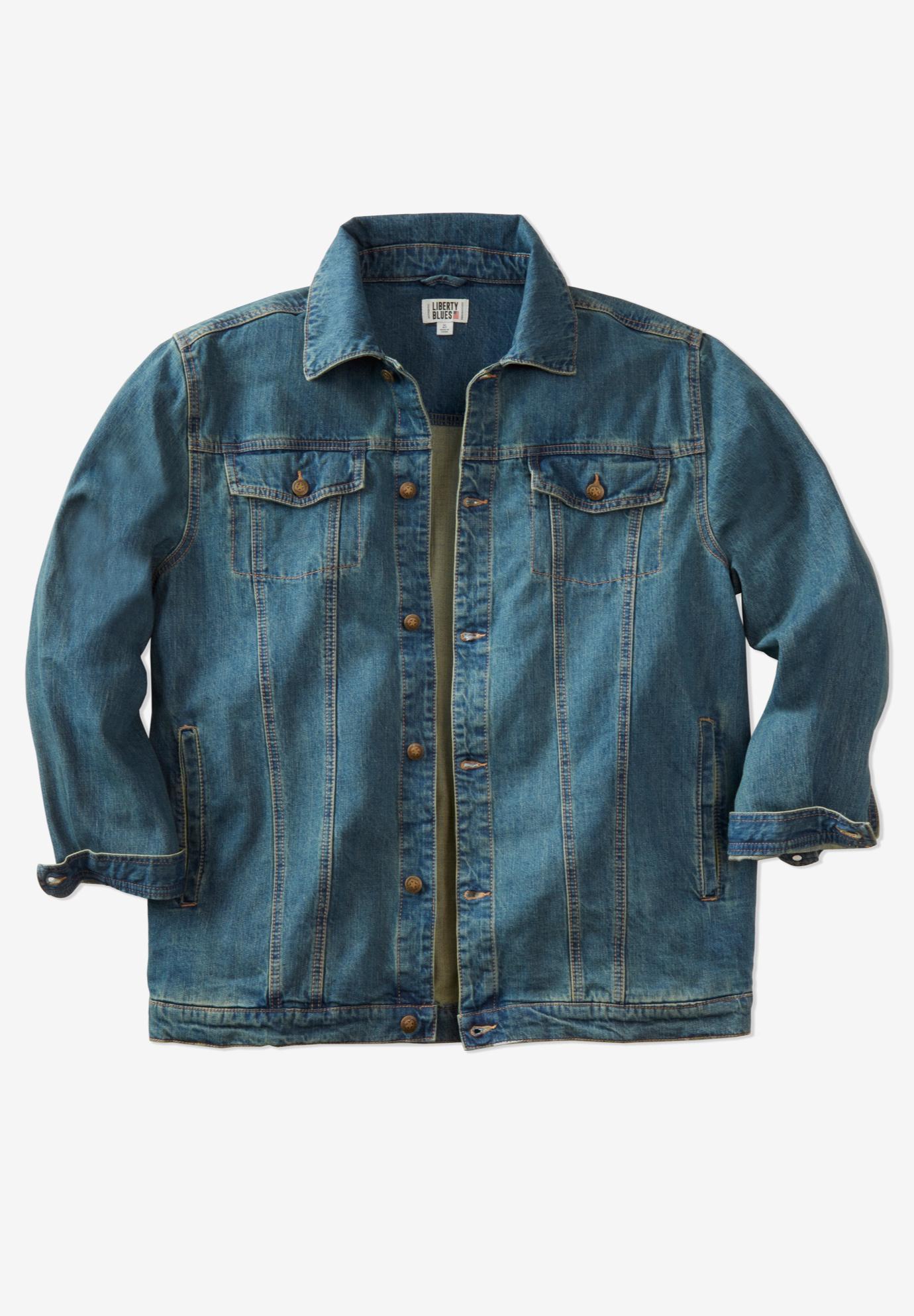 Denim Jacket By Liberty Blues 174 Plus Size Casual Jackets