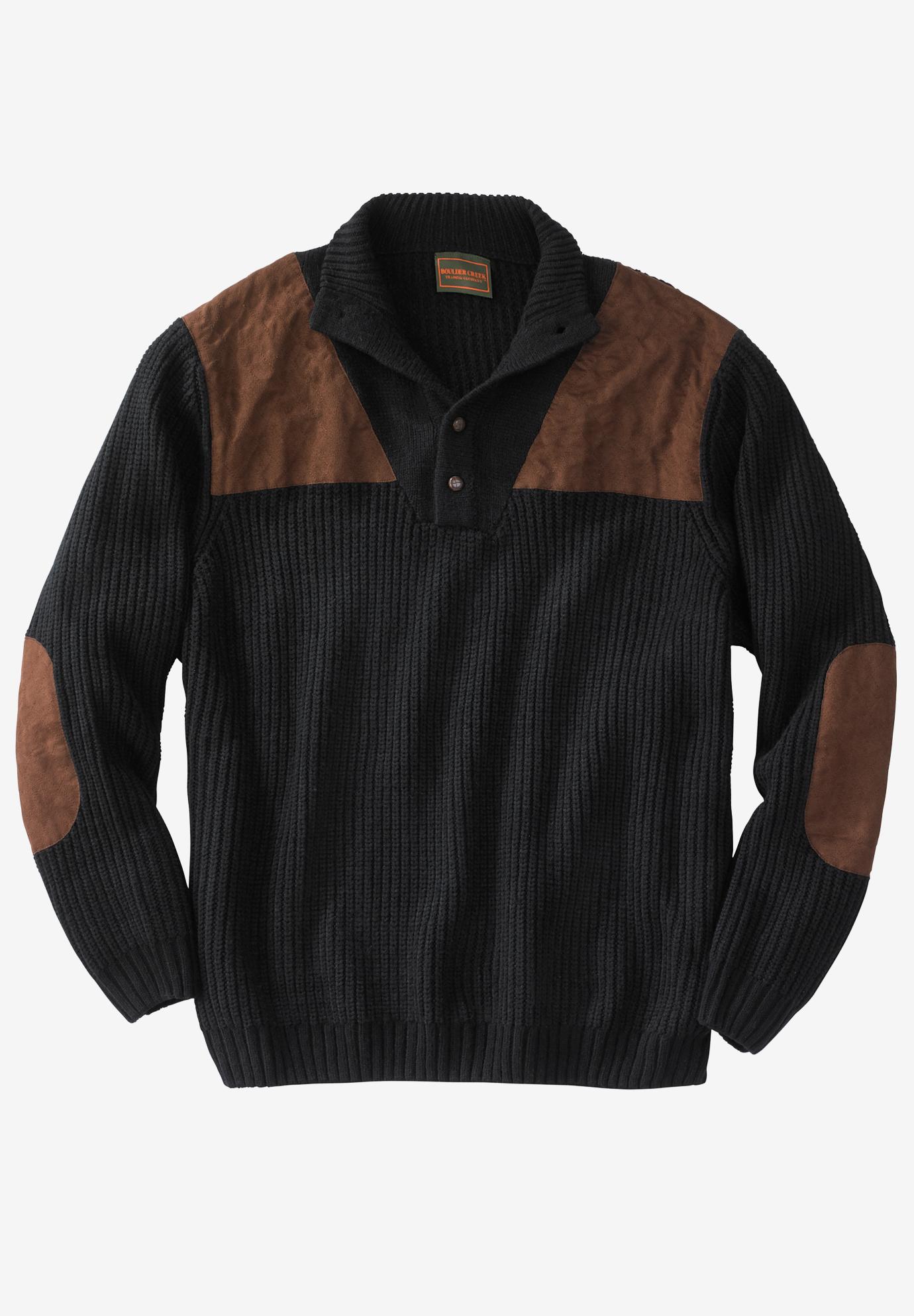 Mock Neck Shooter Sweater By Boulder Creek 174 Plus Size