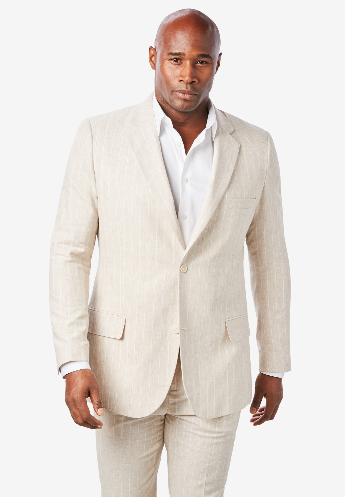 Linen Blend Two-Button Suit Jacket by KS Island™,