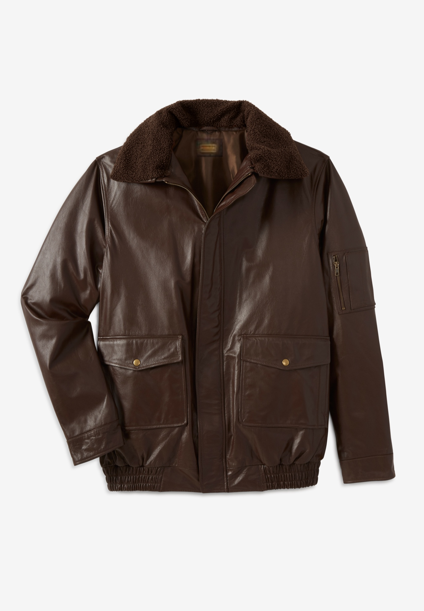 Leather Flight Bomber Jacket,