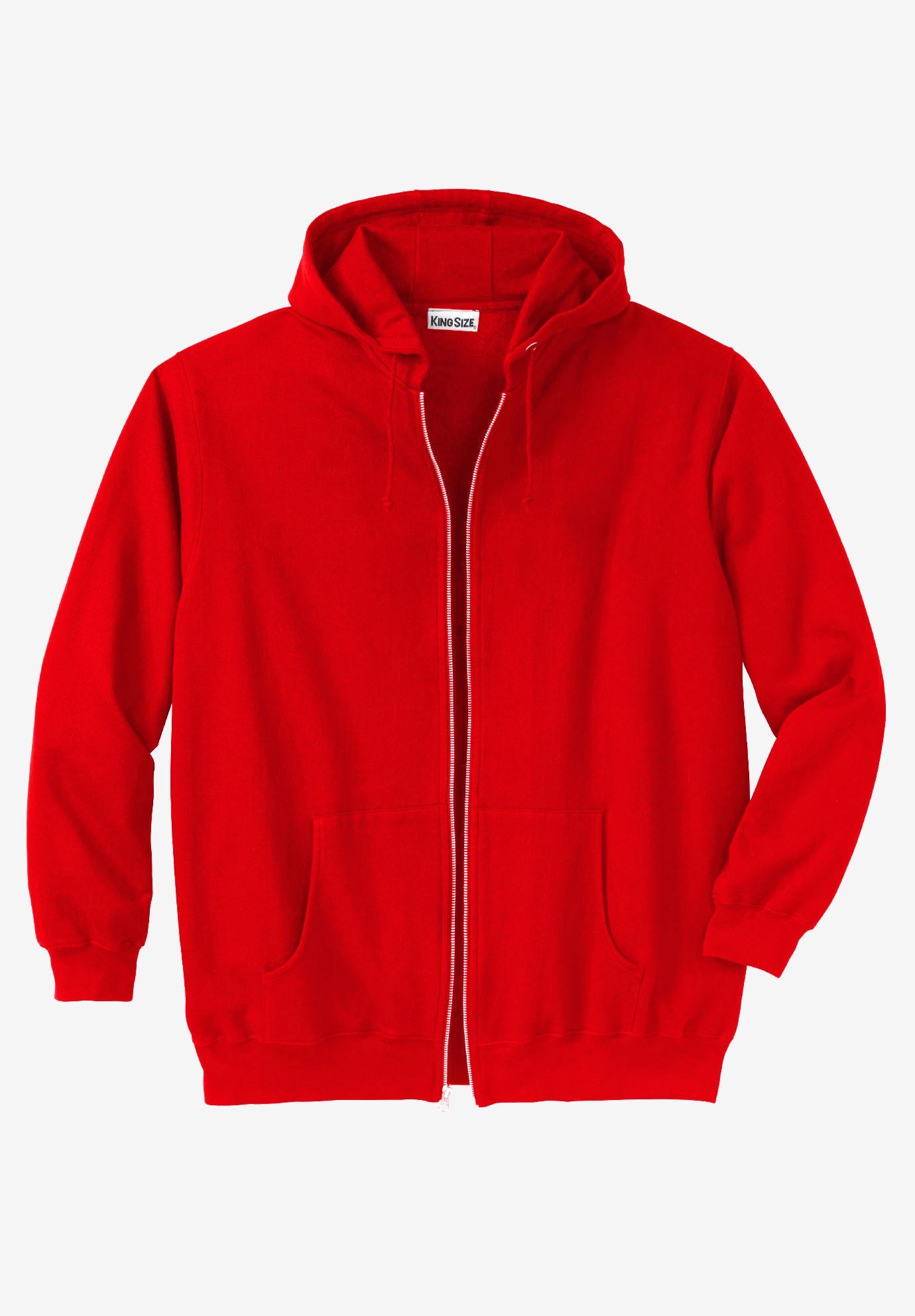 56dff7842 Fleece Zip-Front Hoodie | Plus Size Outerwear | King Size
