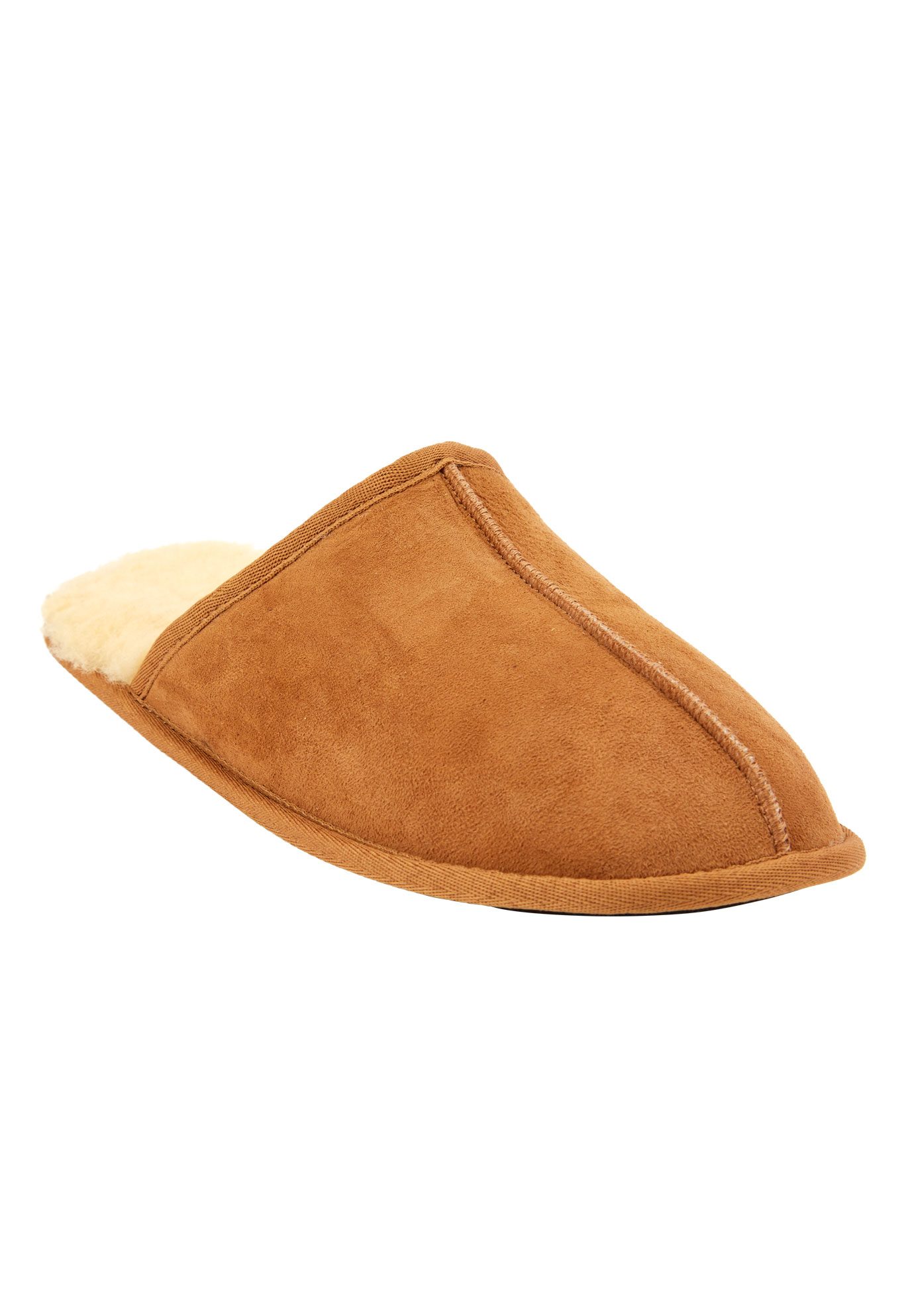 Shearling Slippers, CHESTNUT, hi-res