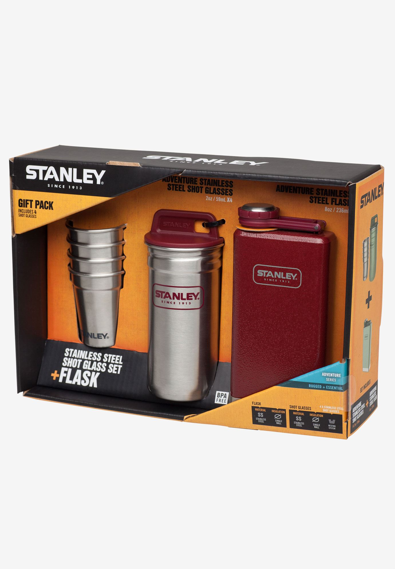 Adventure Shot and Flask Gift Set by Stanley®,